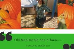 Old MacDonald had a farm..... BOOKWEEK