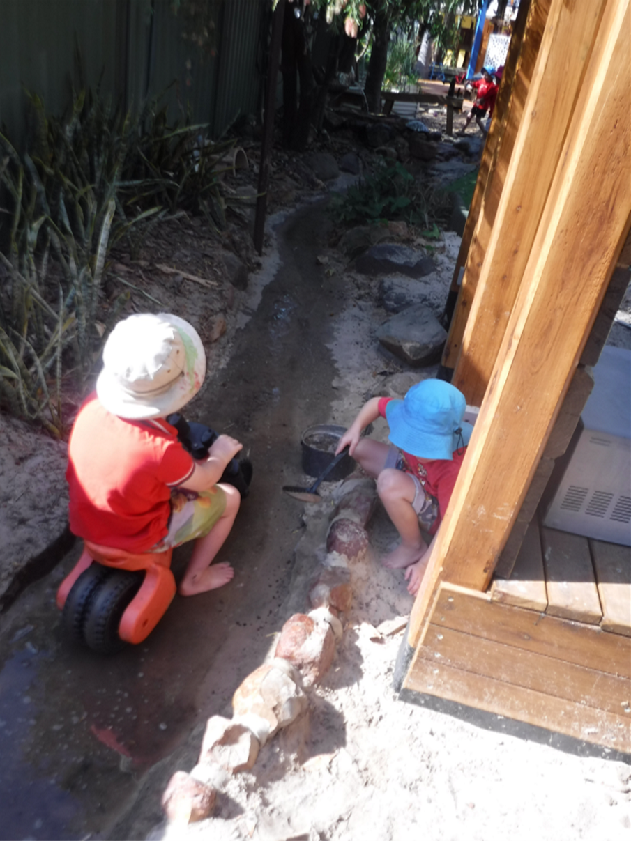 Kids-in-creek